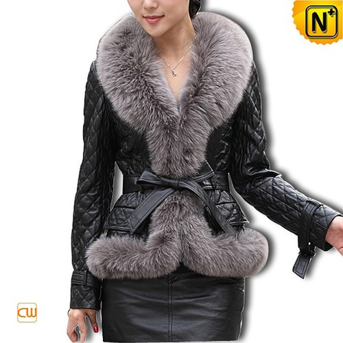 Women Sheepskin Leather Jacket CW610030 - cwmalls.com