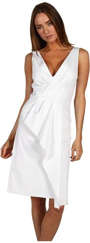 Rachel Roy - Stretch Cotton Wrap Drape Dress (Natural White) - Apparel