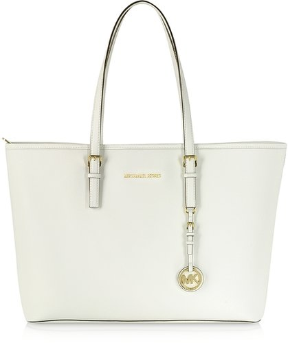 Michael Kors Jet Set Travel Multifunction Saffiano Leather Tote