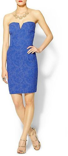 Tinley Road Textured Strapless Mini Dress