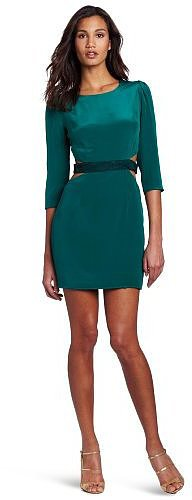 aryn K Women's Waist Cut-out Dress