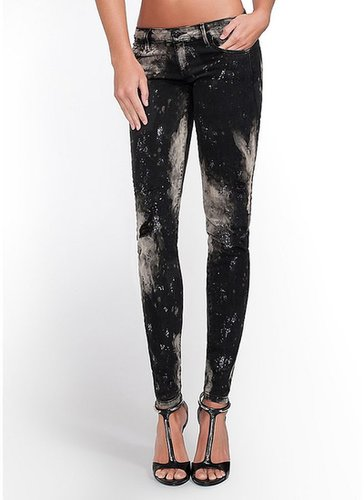Kate Low-Rise Denim Leggings in Space Glitter Wash