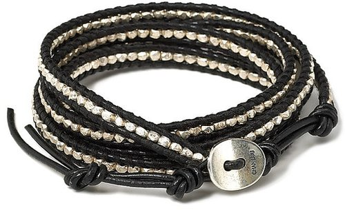 Chan Luu Black and Silver Wrap Bracelet