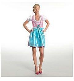 STOCKERPOINT Dirndl mit Bluse und Schürze Lynette in Pink, Gr. 42, für Damen