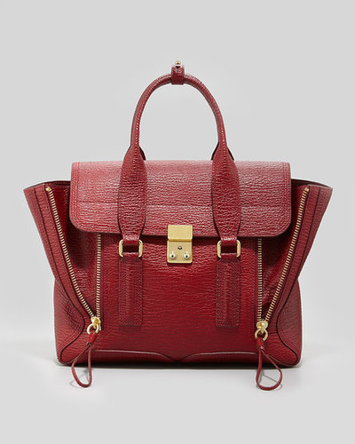 3.1 Phillip Lim Pashli Medium Satchel Bag, Red