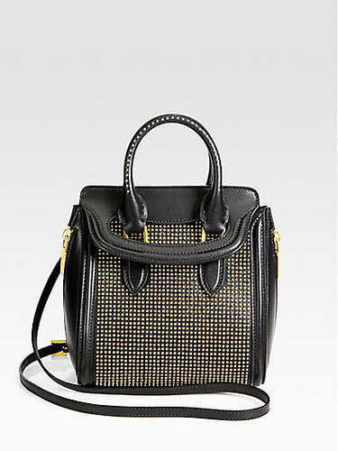 Alexander McQueen Heroine Mini Studded Crossbody Bag
