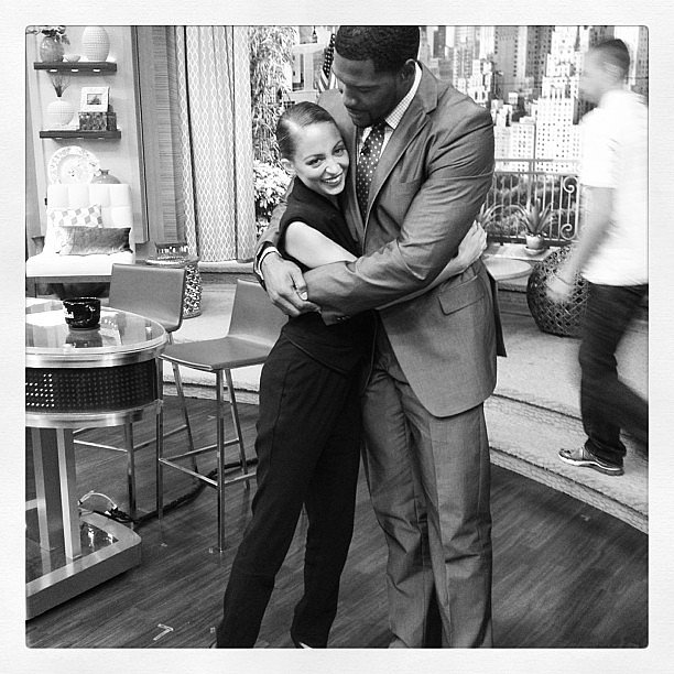 Nicole Richie made an appearance on Live With Kelly and Michael and posed with one of the show's hosts, Michael Strahan. Source: Instagram user nicolerichie