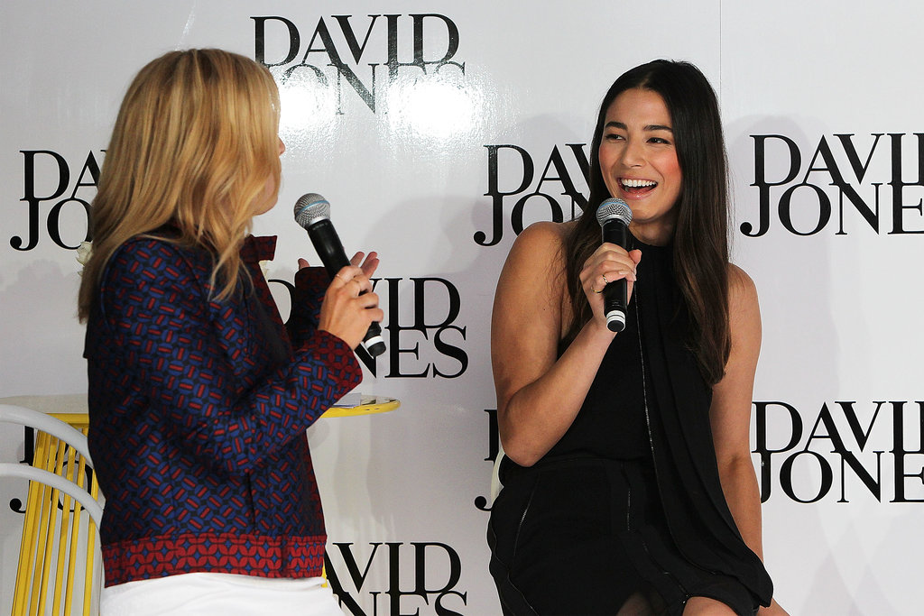 Emma Freedman and Jessica Gomes were sitting pretty during their meet-and-greet with fans at the David Jones Bourke St Mall store on August 7.