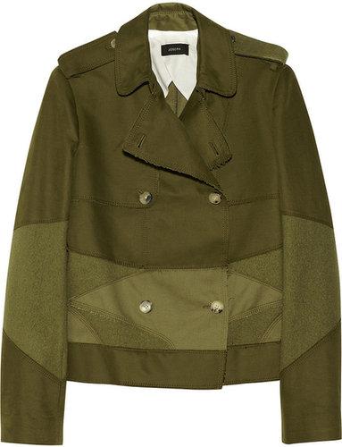 Joseph Oita cotton-twill and wool-felt patchwork jacket