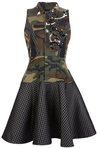 Antonio Marras military camouflage dress