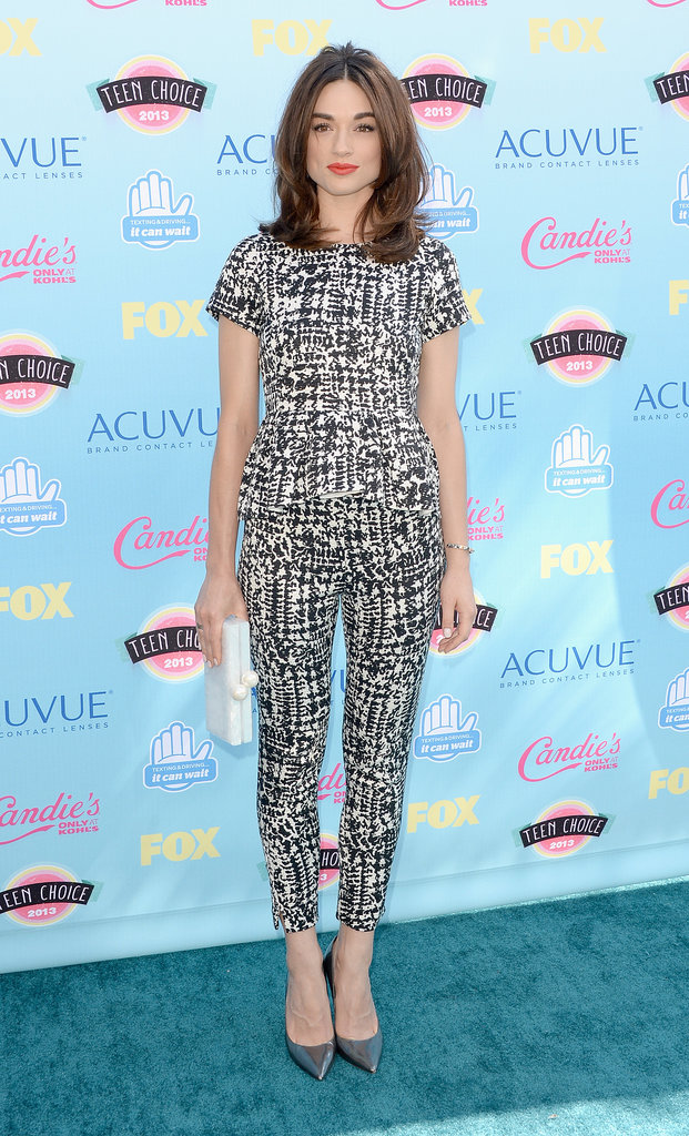 It doesn't get much more eye-catching than Crystal Reed's graphic CH Carolina Herrera separates.