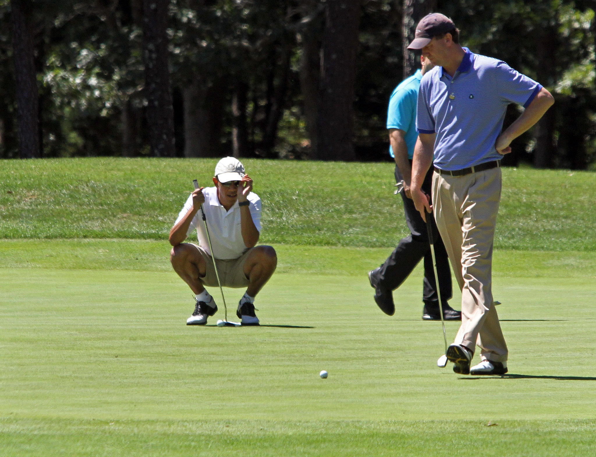 On Sunday, President Obama played some golf.