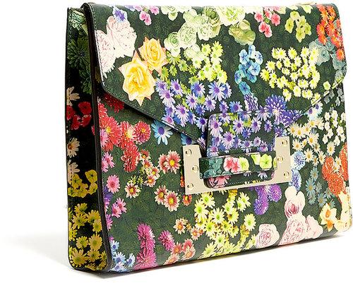 Sophie Hulme Floral Soft Envelope Clutch