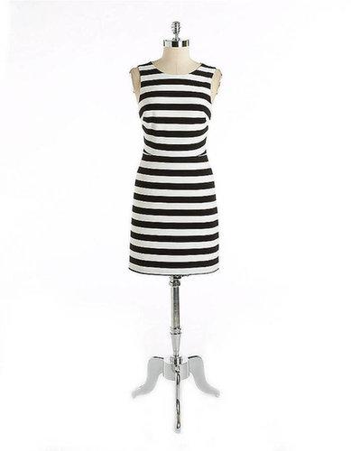 CYNTHIA STEFFE Striped Stretch Cutout Dress