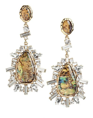 Gold Agate Burst Drops