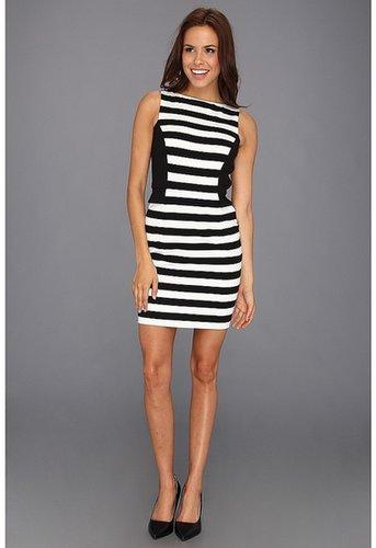Vince Camuto - Colorblock Stripe Dress (Rich Black) - Apparel