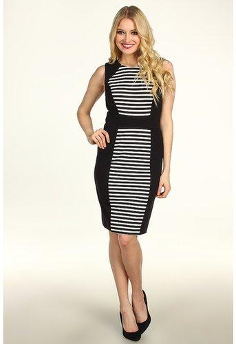 Calvin Klein - Striped Dress (Black/Ivory 2) - Apparel