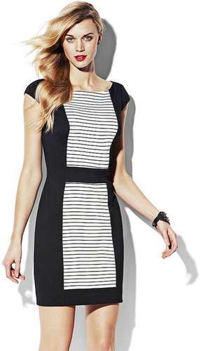 Fitted Dress With Contrast