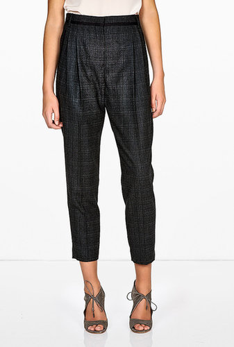 Paul Smith Black Soft Grey Pleat Front Trouser