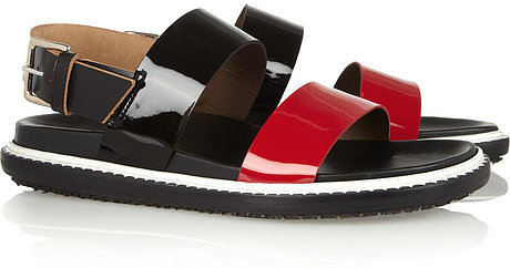 Marni Leather and patent-leather sandals