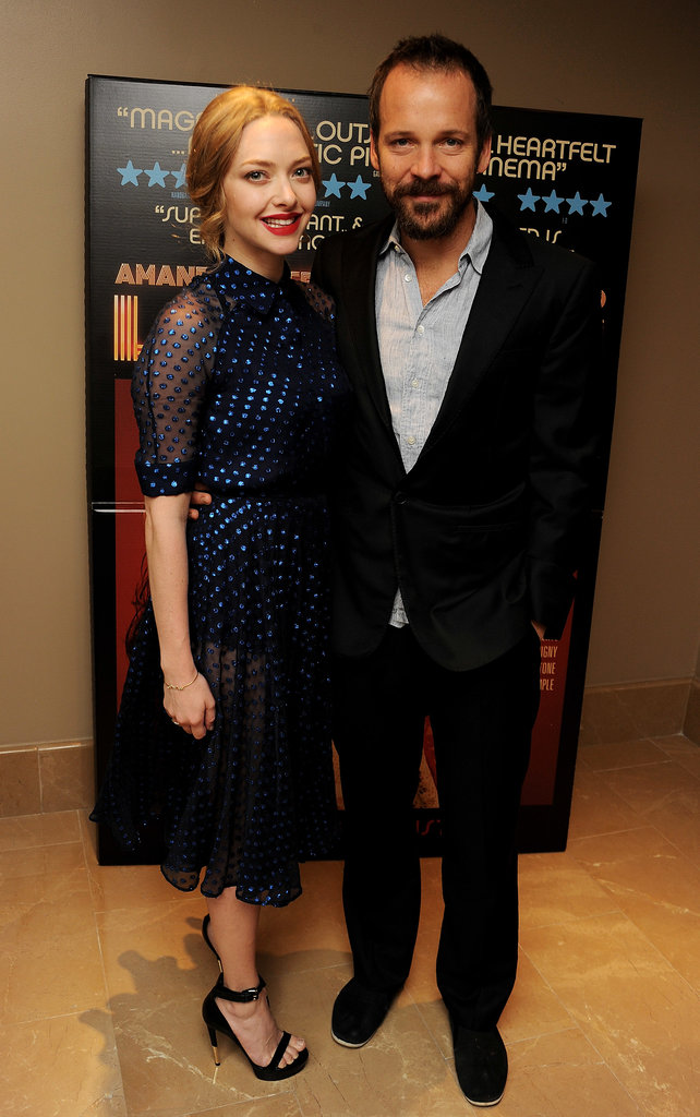 Amanda Seyfried and Peter Sarsgaard got together to screen Lovelace in London.