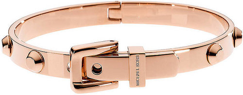 MICHAEL KORS Astor Rose Gold-Tone Stud Buckle Bangle