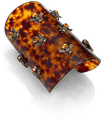 Alexander McQueen Tortoise-Look Bee Bracelet