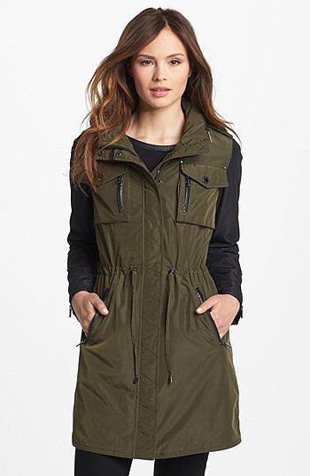 Laundry by Shelli Segal Two Tone Anorak (Online Only) Large