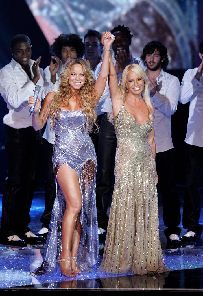 Divas united! Mariah Carey and Donatella Versace took the stage together for Swarovski Fashion Rocks.