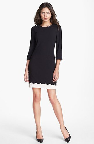 Ted Baker London Scalloped Stretch Shift Dress