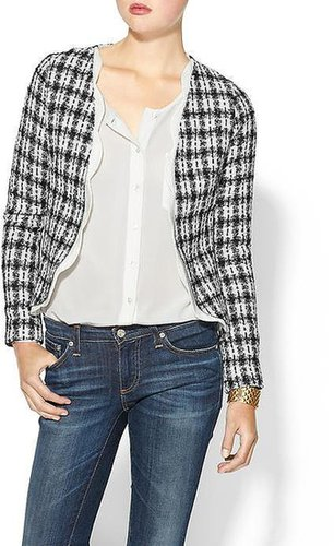 Pim + Larkin Tweed Jacket with Scallop Trim