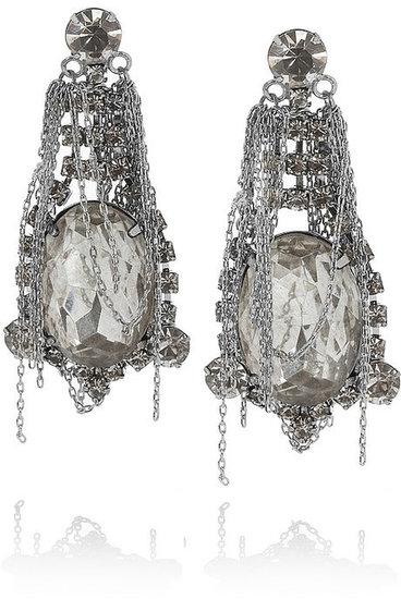 Tom Binns Fettered Swarovski crystal drop earrings