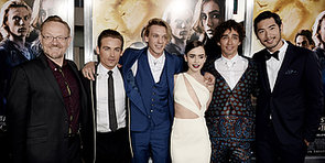 Lily Collins Joins Her Handsome Mortal Instruments Co-Stars in LA