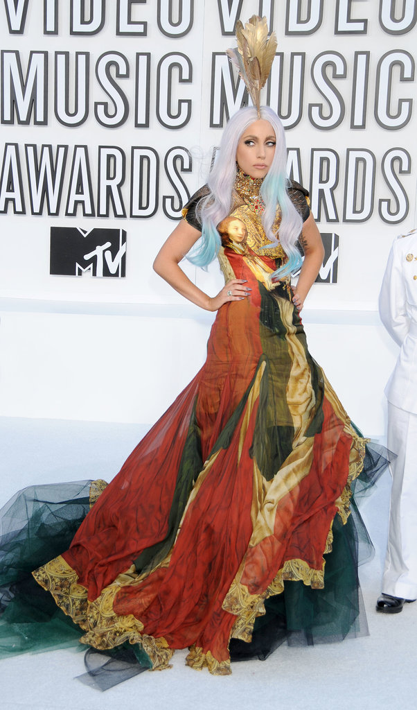 Lady Gaga in Alexander McQueen at 2010 MTV Video Music Awards