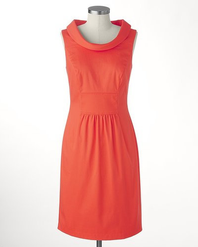 Shift into coral dress