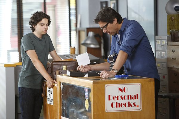 "Parenthood Max (Max Burkholder) and Hank (Ray Romano) in ""It Has to Be Now,"" Parenthood's season premiere, airing Sept. 26 on NBC."