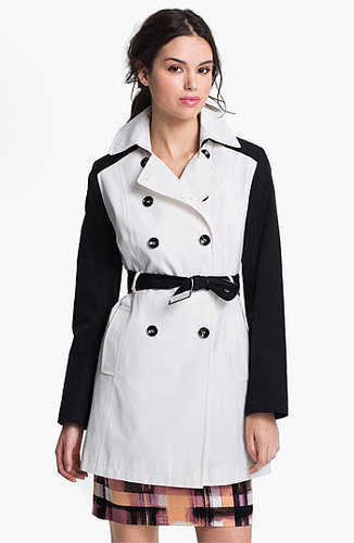 DKNY Two Tone Trench Coat (Online Only) Large