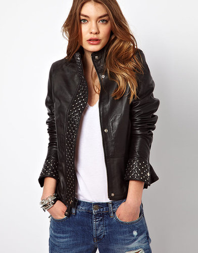 Sara Berman Quilted Front Leather Biker