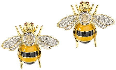 CZ by Kenneth Jay Lane Bumblebee Earrings