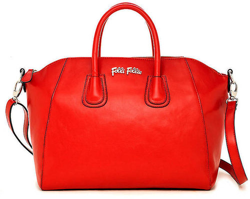 FOLLI FOLLIE K Vintage Large Red Satchel