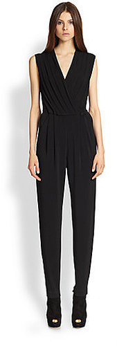 Rachel Zoe Claudia Stretch Crepe Jumpsuit