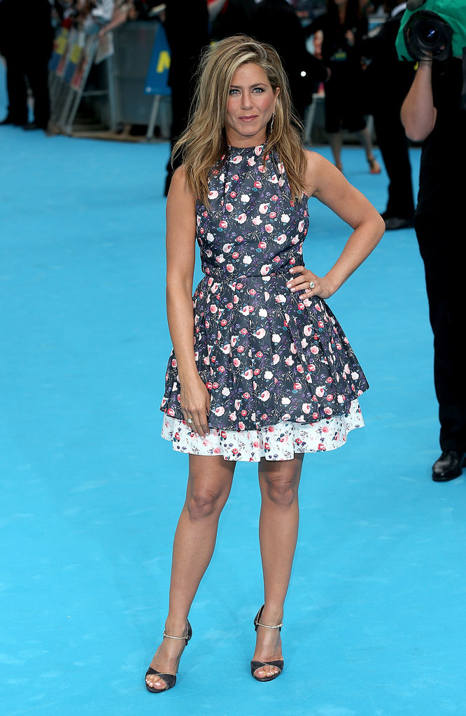 Jennifer Aniston in Floral Dior Dress