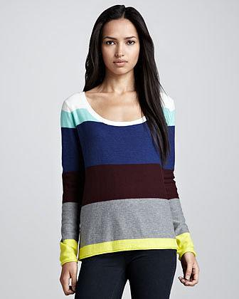 Ella Moss Brighton Striped Sweater, Multi