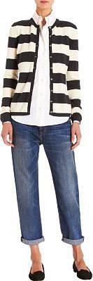 Malo Striped Cardigan Sweater
