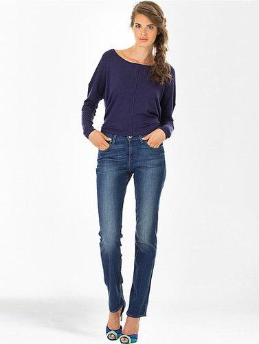 Jeans Classic Demi Curve Straight Droite Bleu foncé