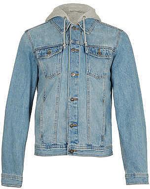 Veste à capuche en jean bleu