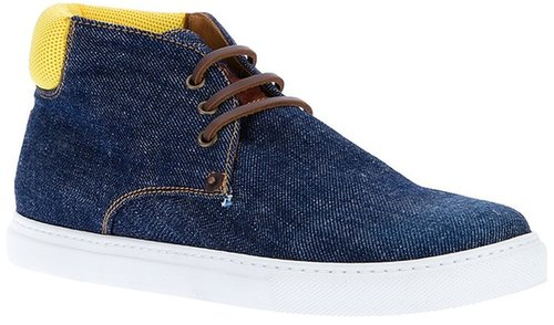Dsquared2 denim lace-up sneaker