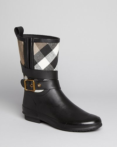 Burberry Rain Boots - Holloway Mid Buckle Check