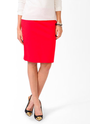 FOREVER 21 Essential Woven Pencil Skirt