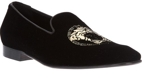 Versace logo loafer